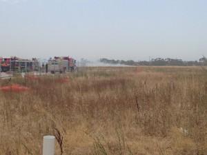 Grassfire near Waterways